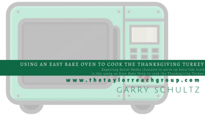 Using an easybake over to cook the thanksgiving turkey