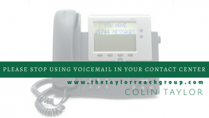 Please Stop Using Voicemail in You Contact Center