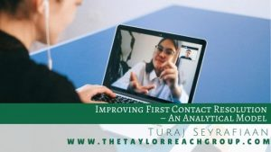 Improving First Contact Resolution – An Analytical Model